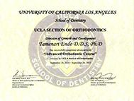 UCLA Certificaate Corse修了書